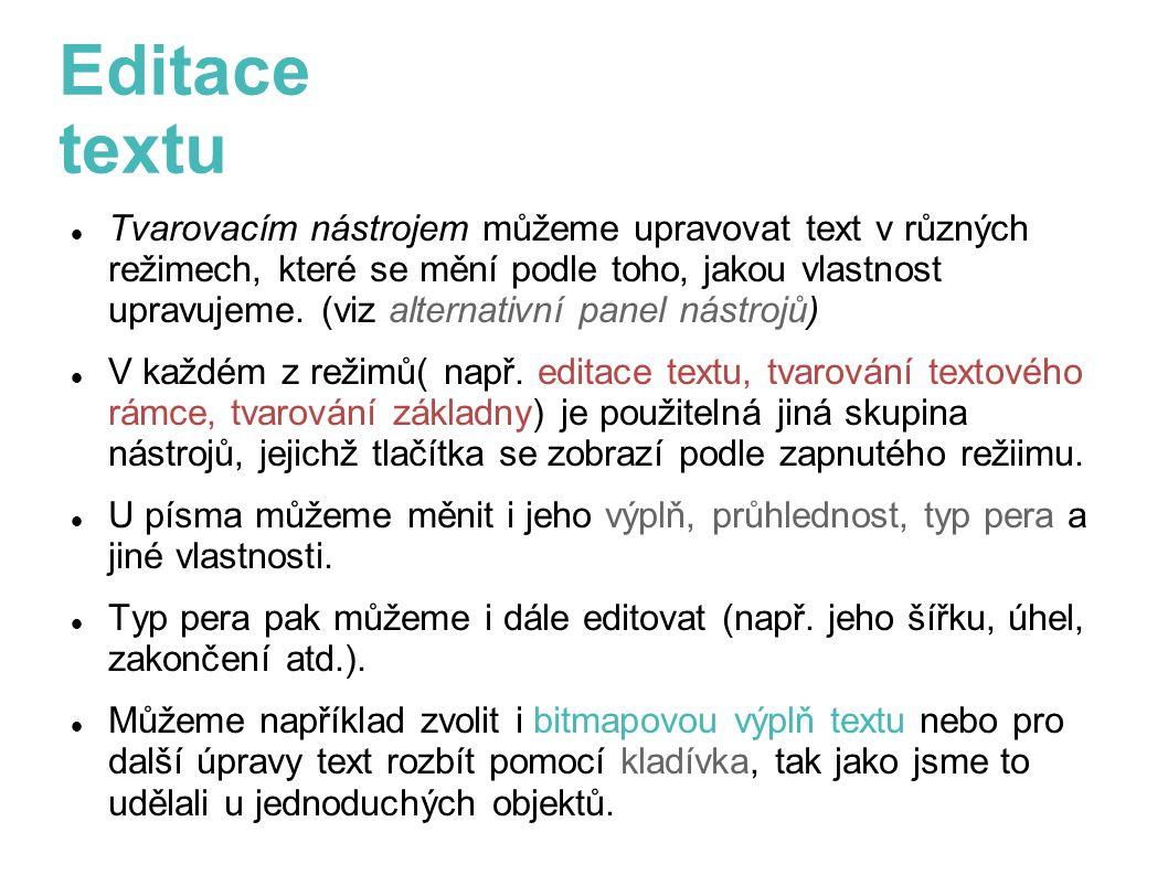 Editace textu