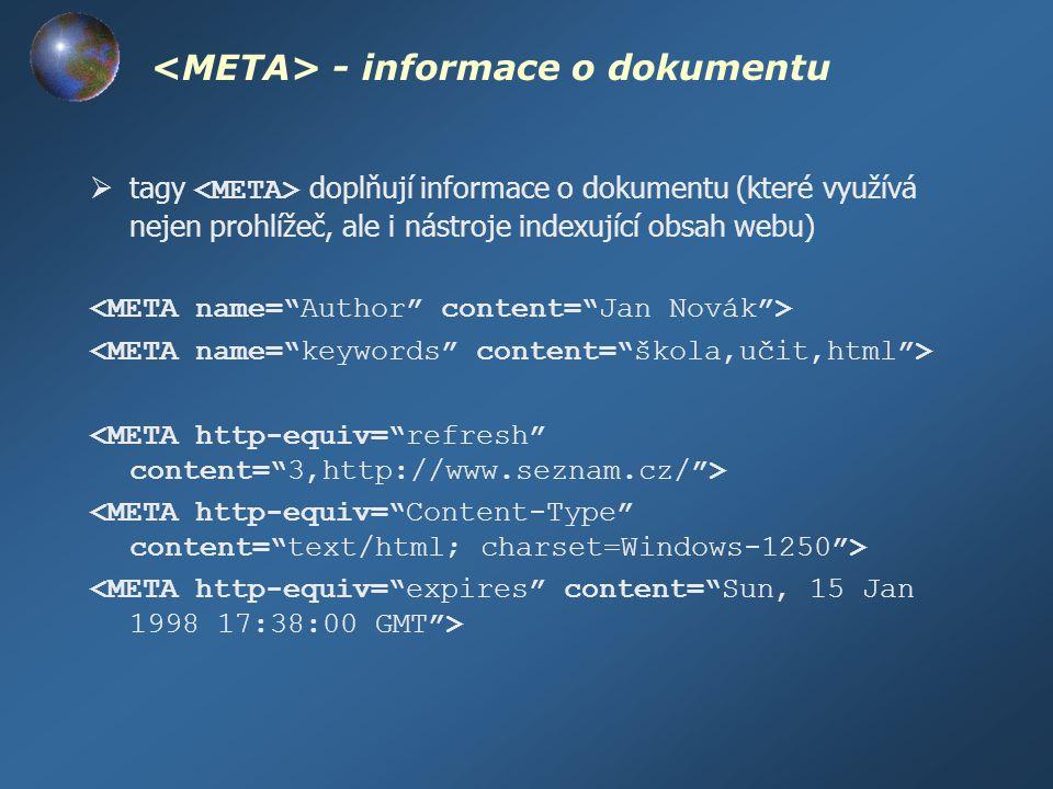<META> - informace o dokumentu