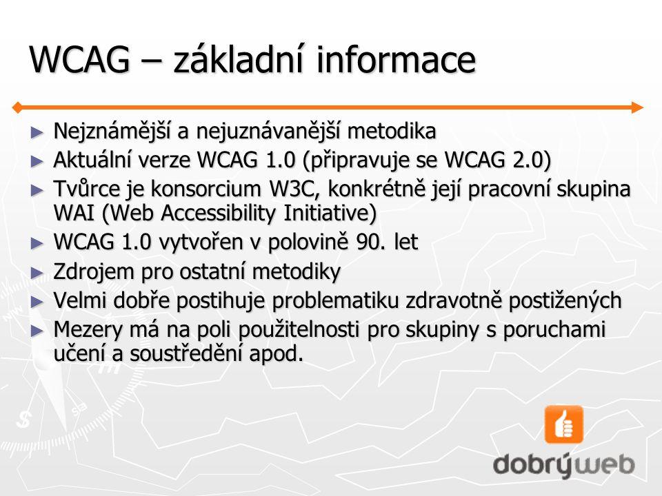 WCAG – základní informace