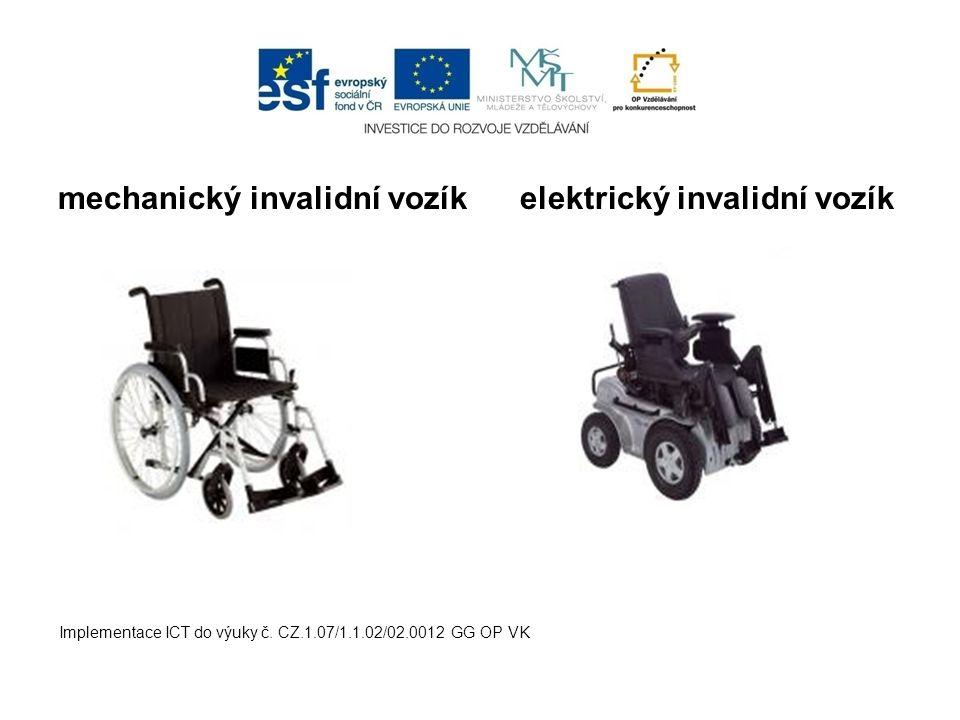 mechanický invalidní vozík elektrický invalidní vozík