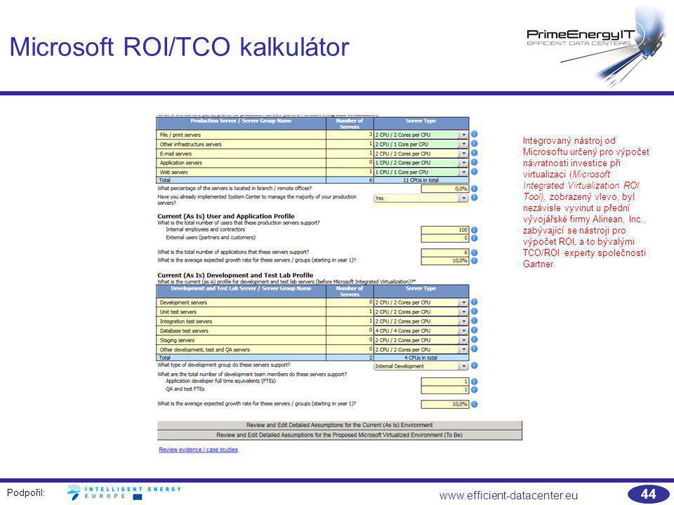 Microsoft ROI/TCO kalkulátor
