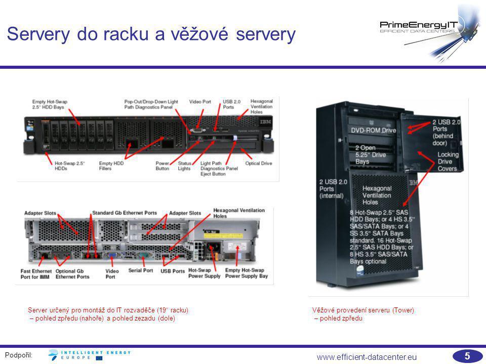 Servery do racku a věžové servery