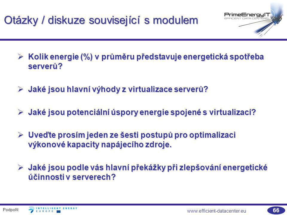 Otázky / diskuze související s modulem