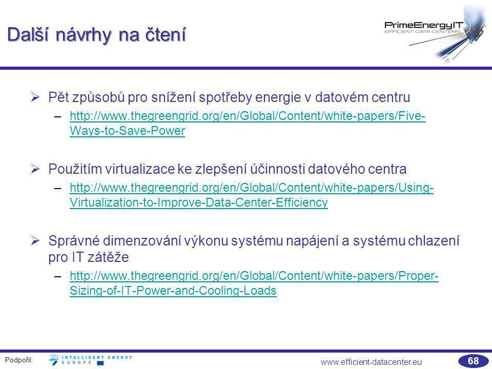 Další návrhy na čtení Pět způsobů pro snížení spotřeby energie v datovém centru.
