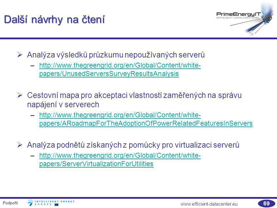 Další návrhy na čtení Analýza výsledků průzkumu nepoužívaných serverů