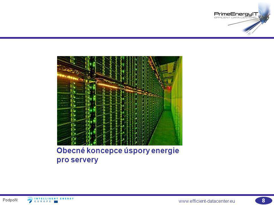 Obecné koncepce úspory energie pro servery
