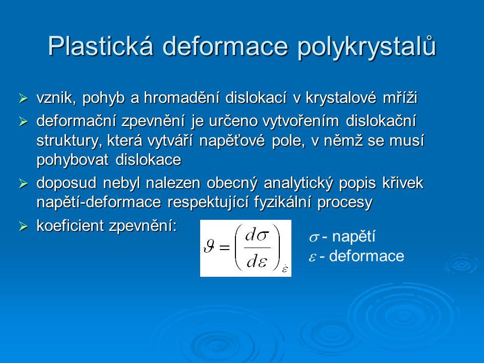 Plastická deformace polykrystalů