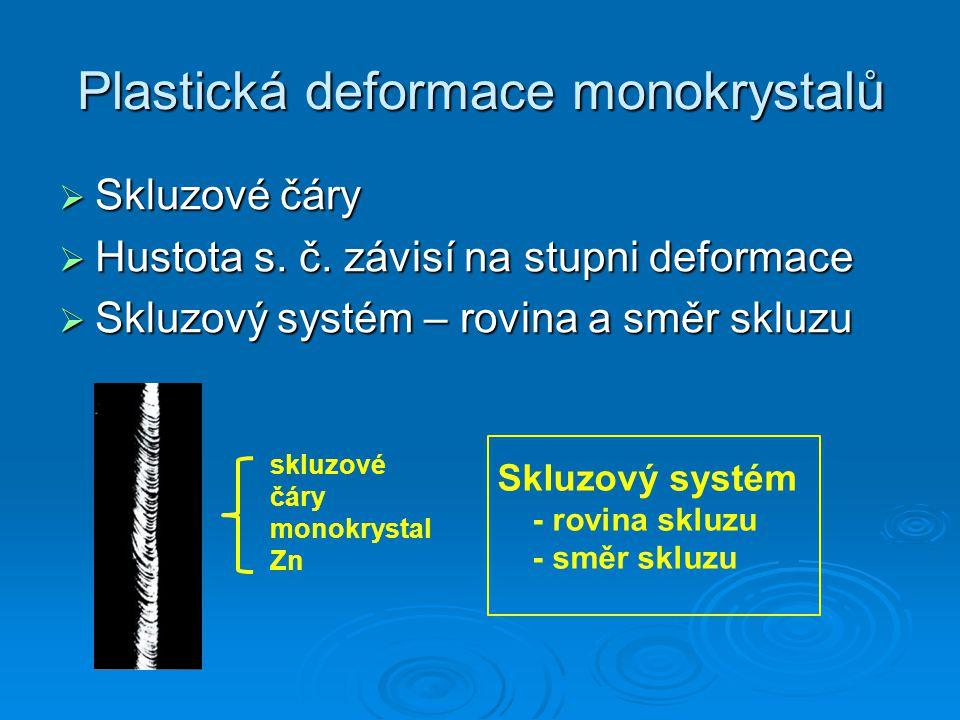 Plastická deformace monokrystalů