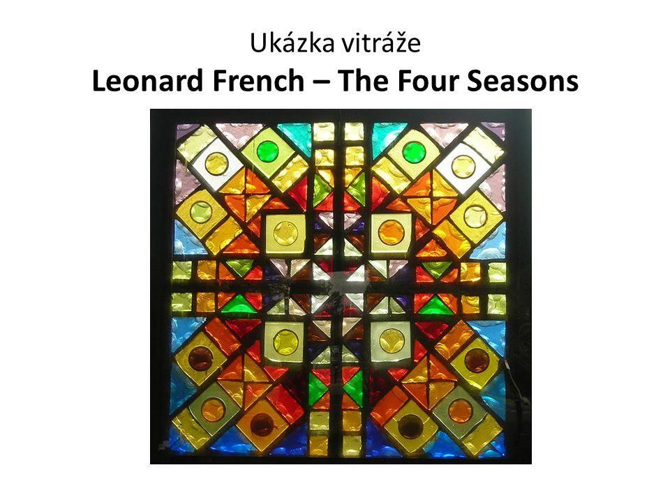Ukázka vitráže Leonard French – The Four Seasons