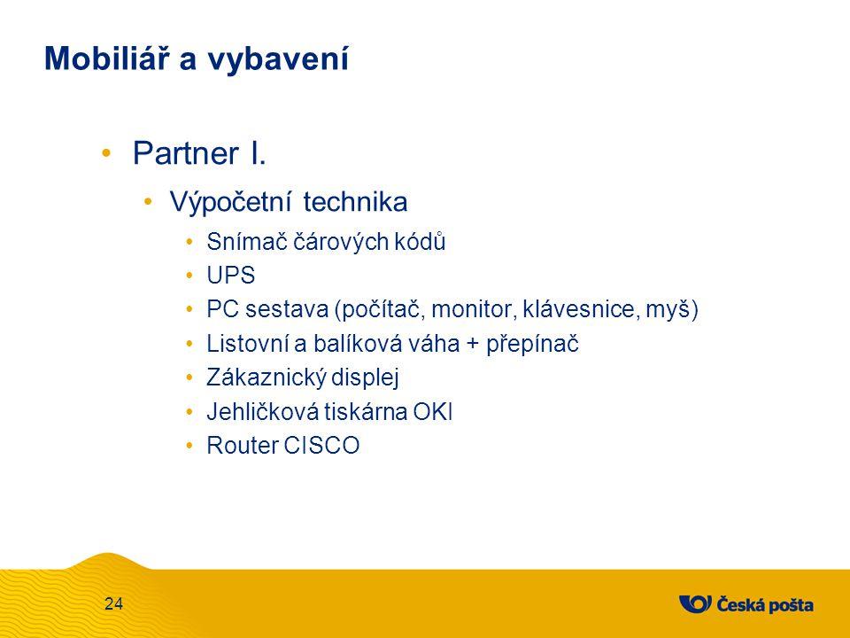 Mobiliář a vybavení Partner I. Výpočetní technika Snímač čárových kódů