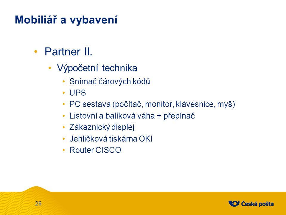 Mobiliář a vybavení Partner II. Výpočetní technika