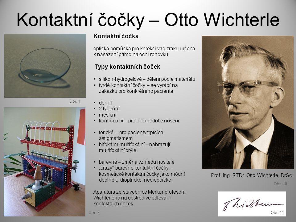 Kontaktní čočky – Otto Wichterle