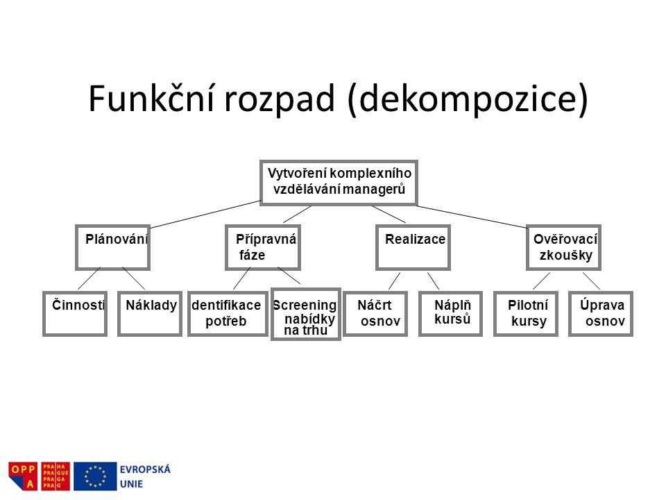 Funkční rozpad (dekompozice)