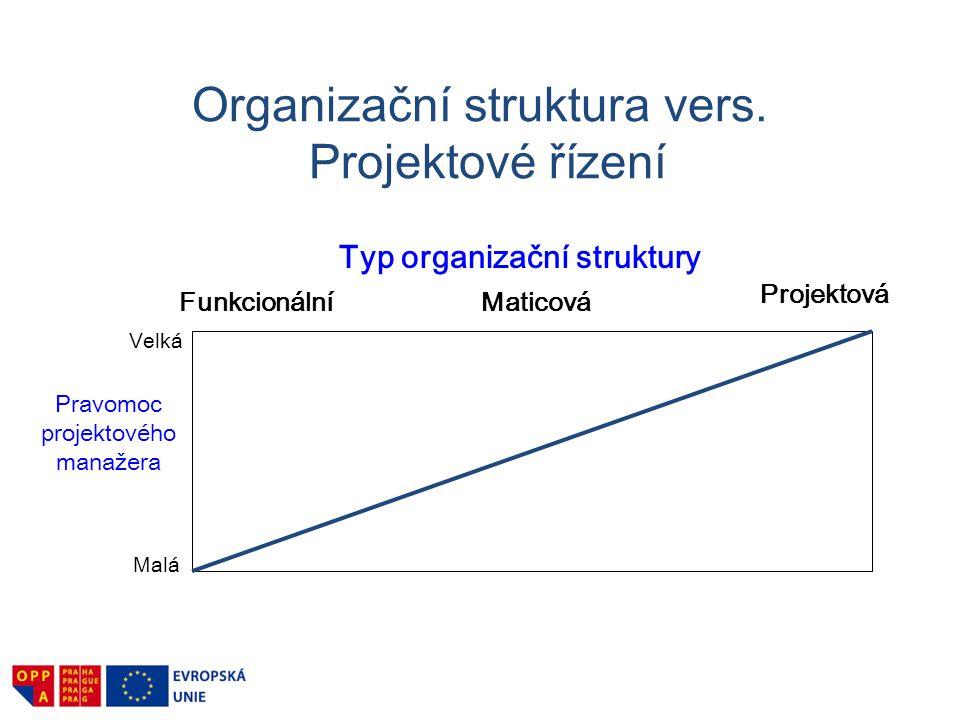 Organizační struktura vers. Projektové řízení
