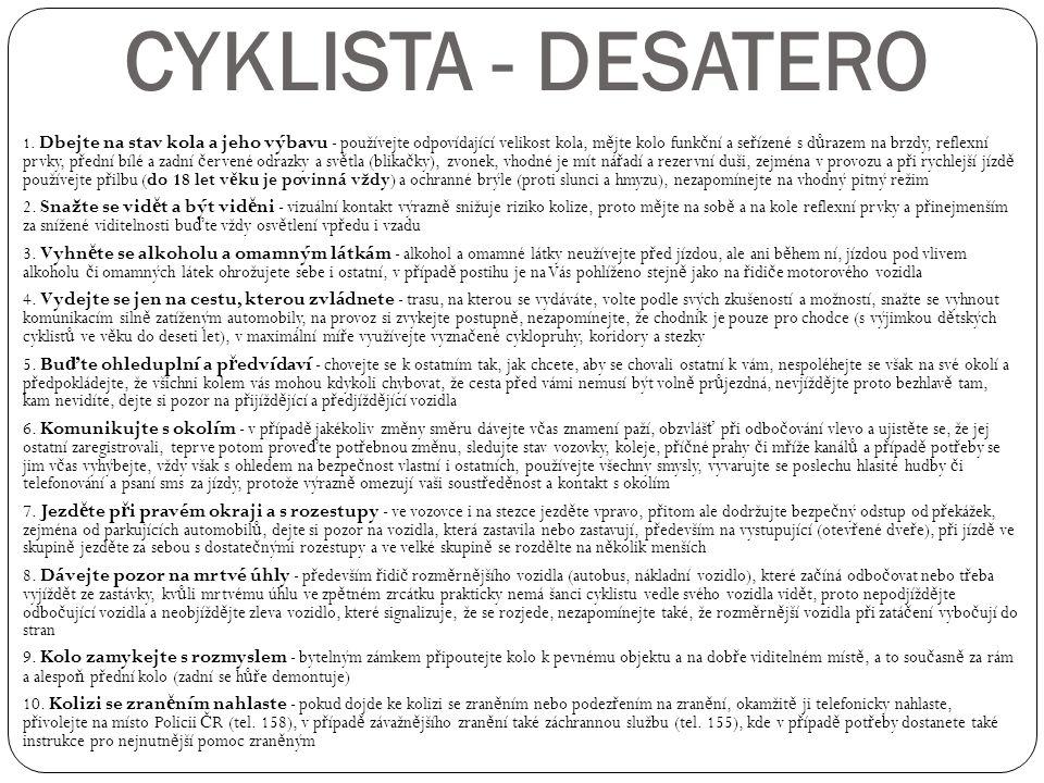 CYKLISTA - DESATERO