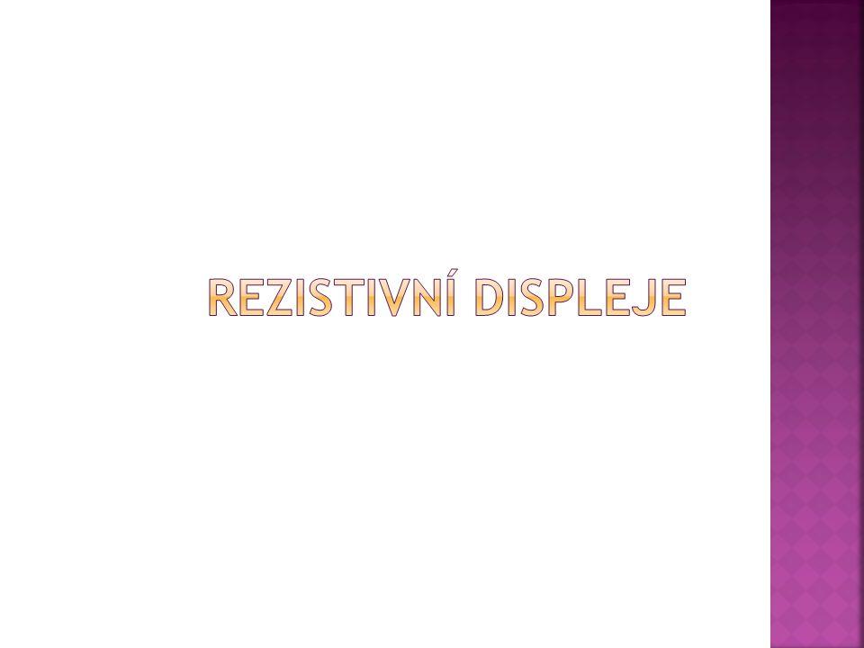 Rezistivní displeje