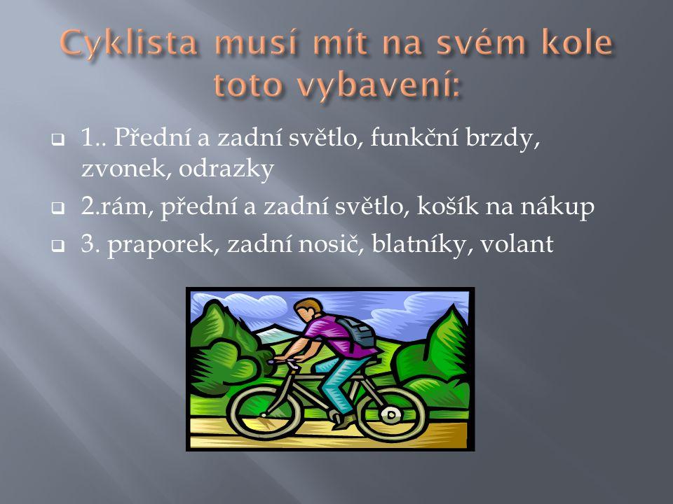 Cyklista musí mít na svém kole toto vybavení: