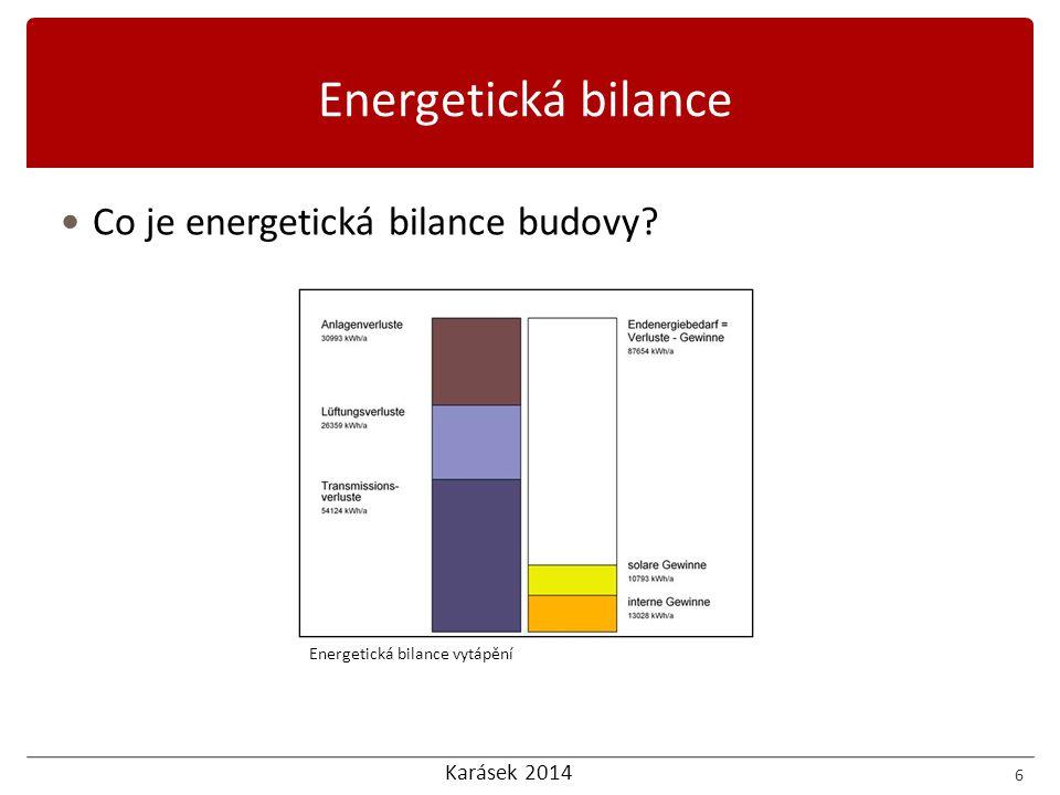 Energetická bilance Co je energetická bilance budovy