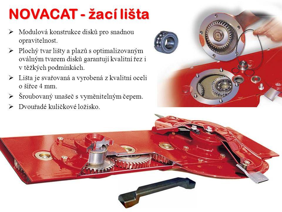 NOVACAT - žací lišta Modulová konstrukce disků pro snadnou opravitelnost.