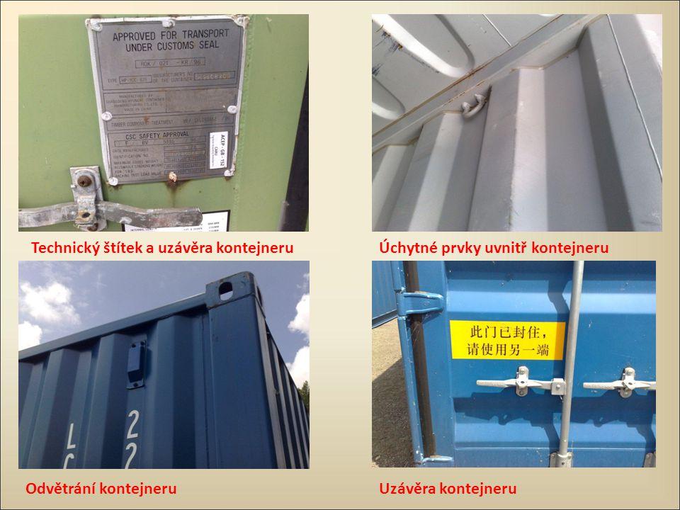 Technický štítek a uzávěra kontejneru