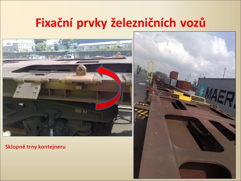 Fixační prvky železničních vozů
