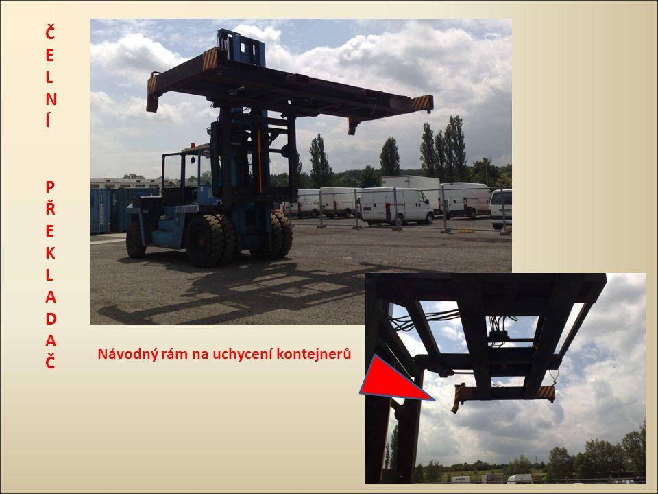 ČELNÍ PŘEKLADAČ Návodný rám na uchycení kontejnerů