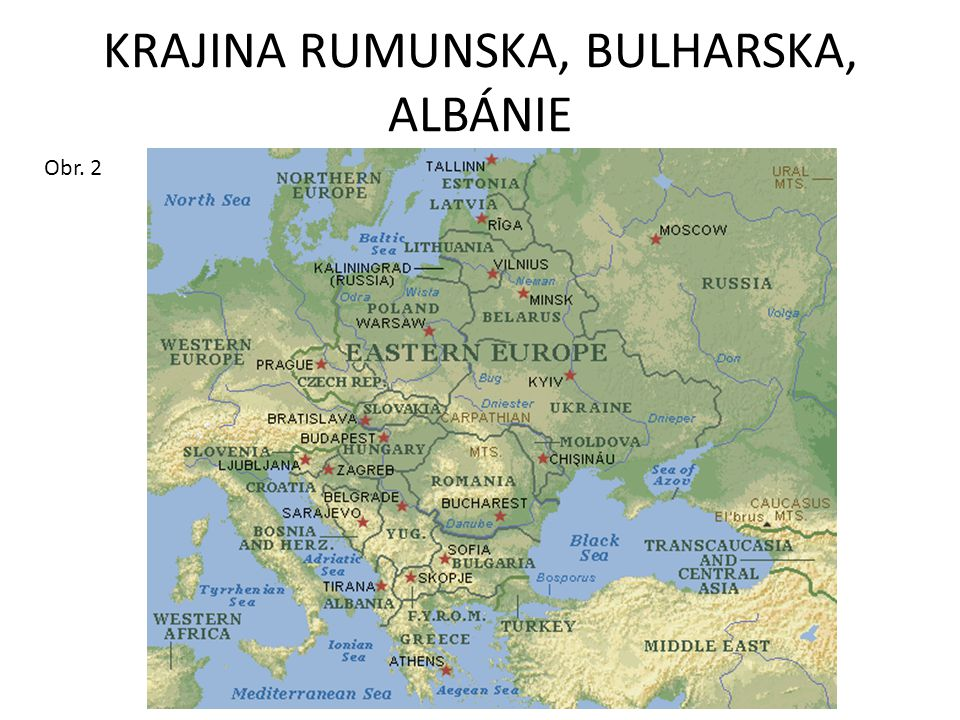 KRAJINA RUMUNSKA, BULHARSKA, ALBÁNIE