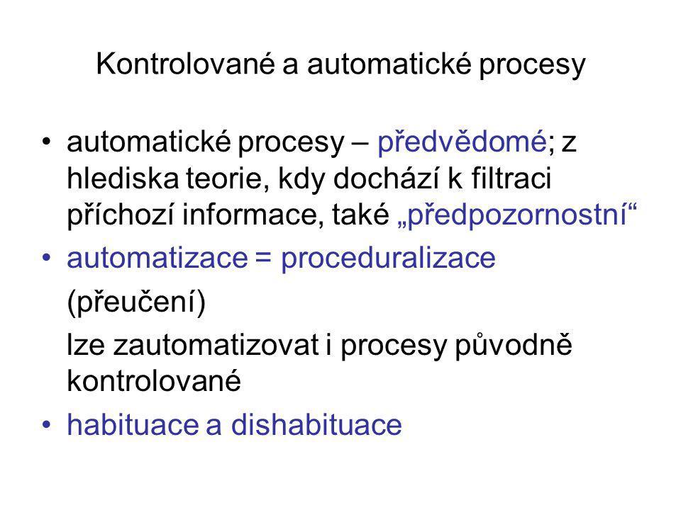 Kontrolované a automatické procesy