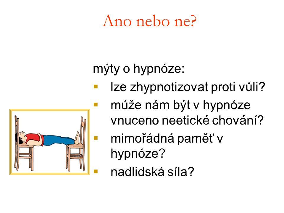 Ano nebo ne mýty o hypnóze: lze zhypnotizovat proti vůli