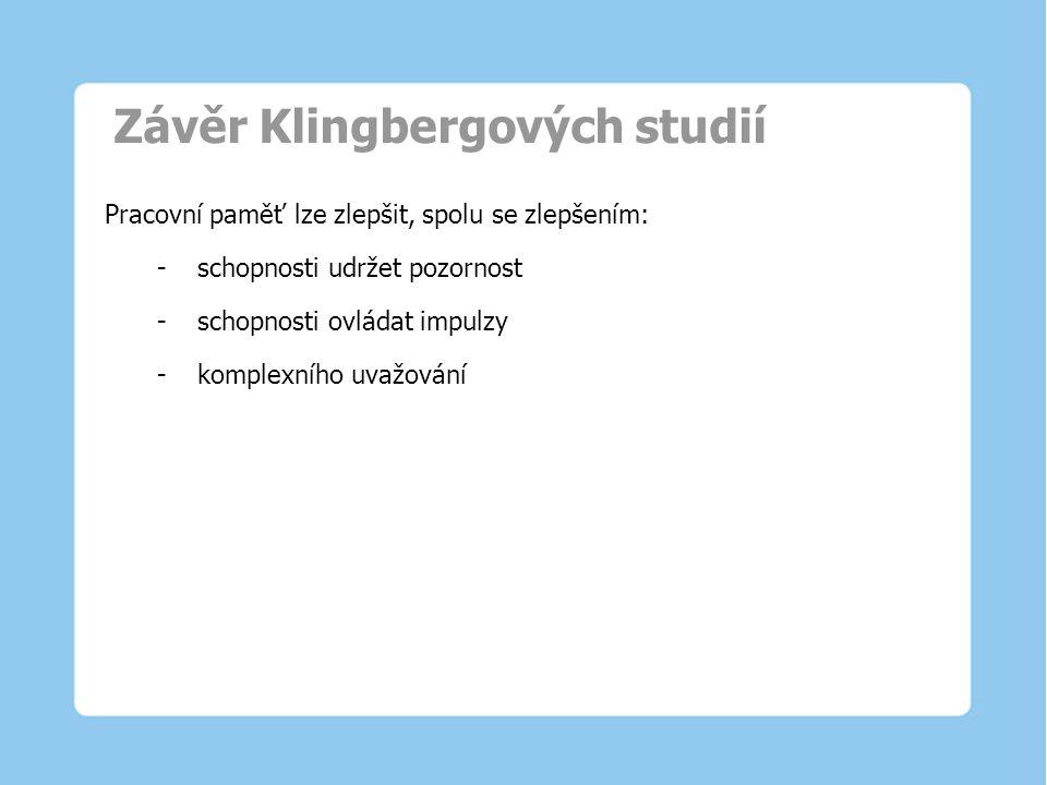 Závěr Klingbergových studií