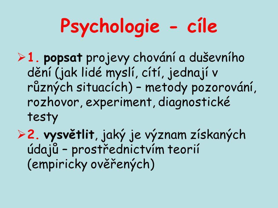 Psychologie - cíle