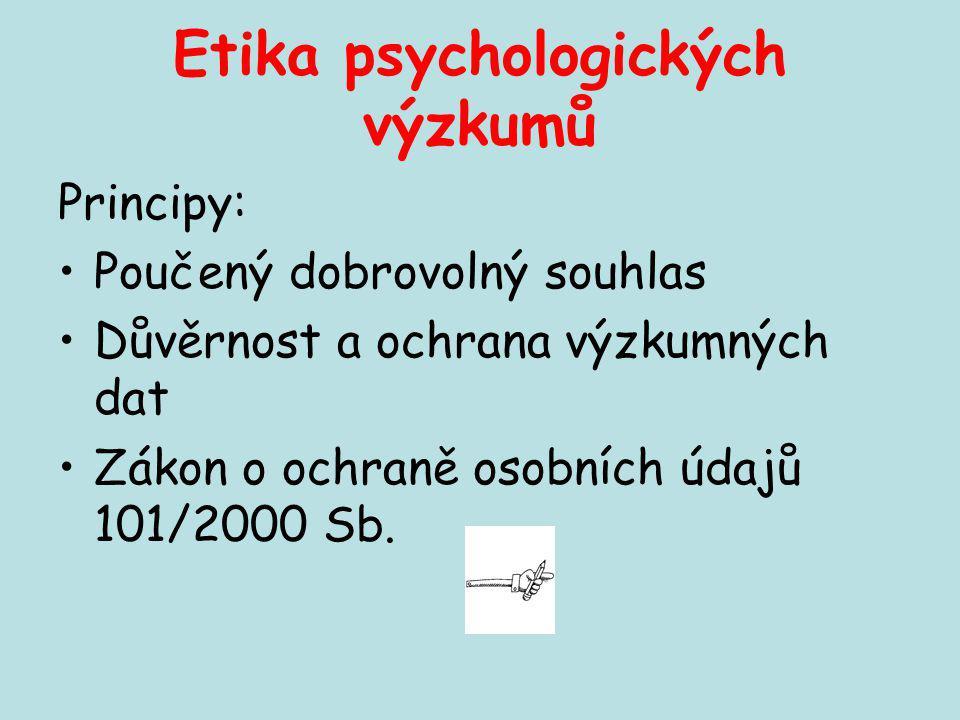 Etika psychologických výzkumů