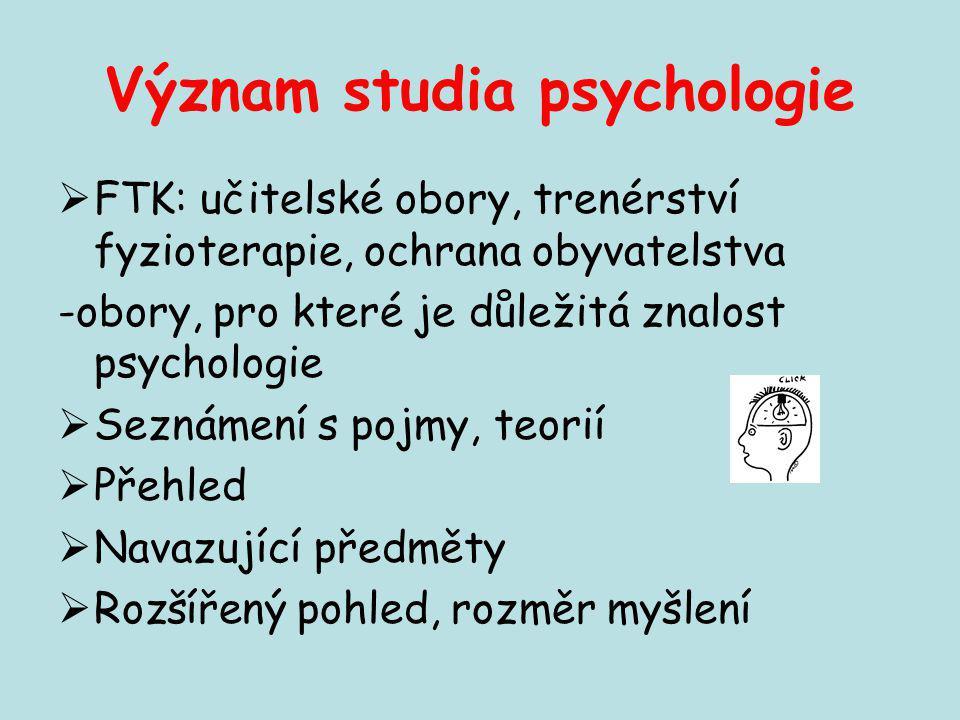 Význam studia psychologie