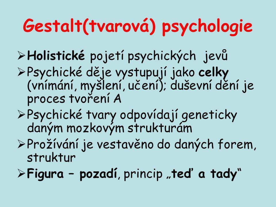 Gestalt(tvarová) psychologie