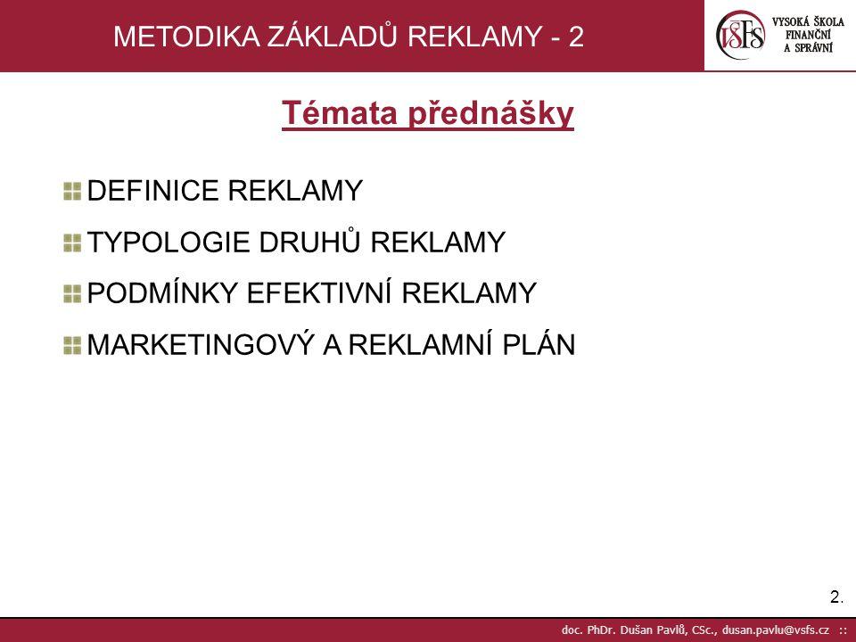 METODIKA ZÁKLADŮ REKLAMY - 2