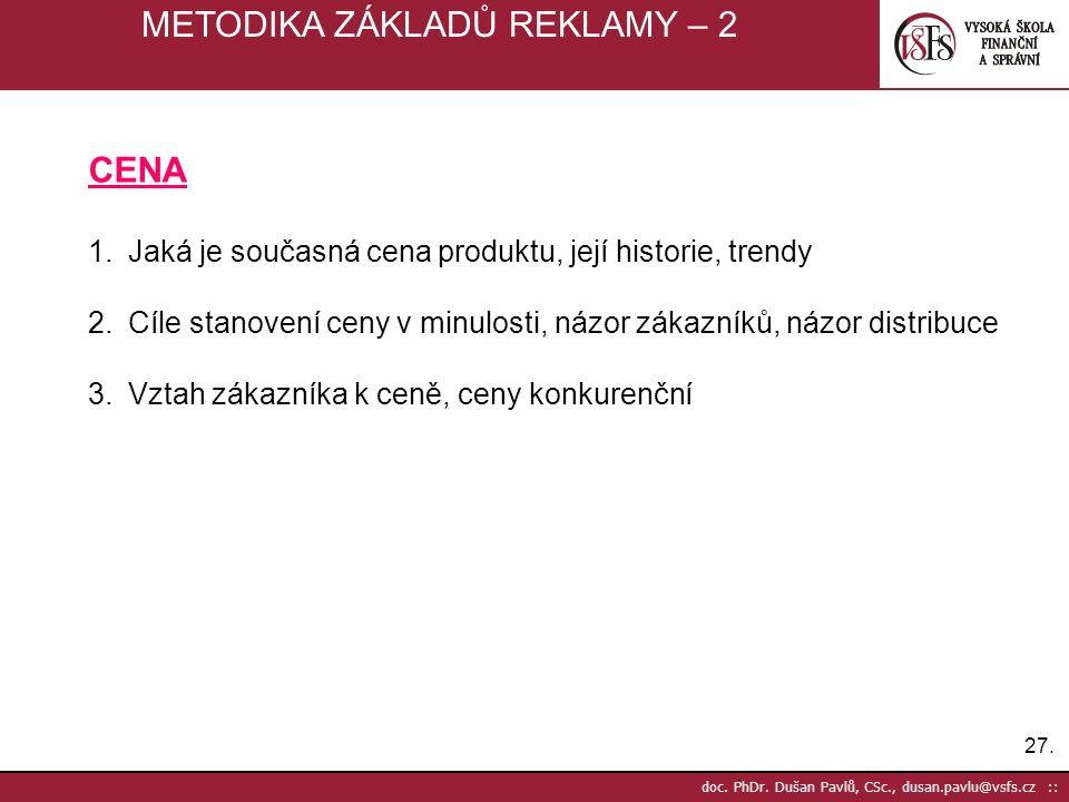 METODIKA ZÁKLADŮ REKLAMY – 2