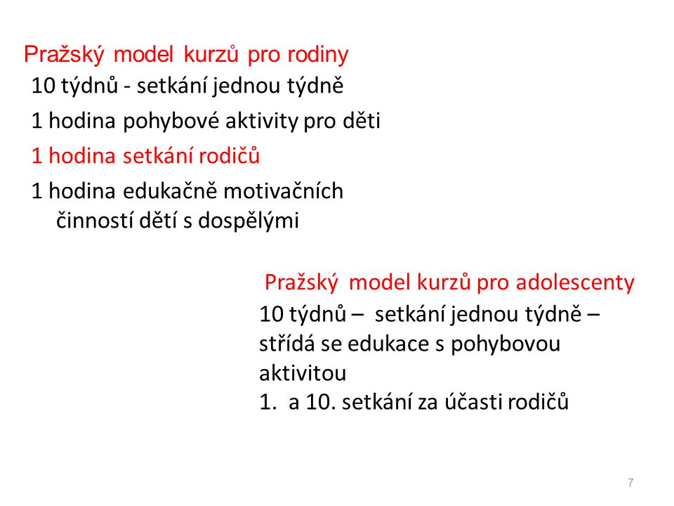 Pražský model kurzů pro rodiny