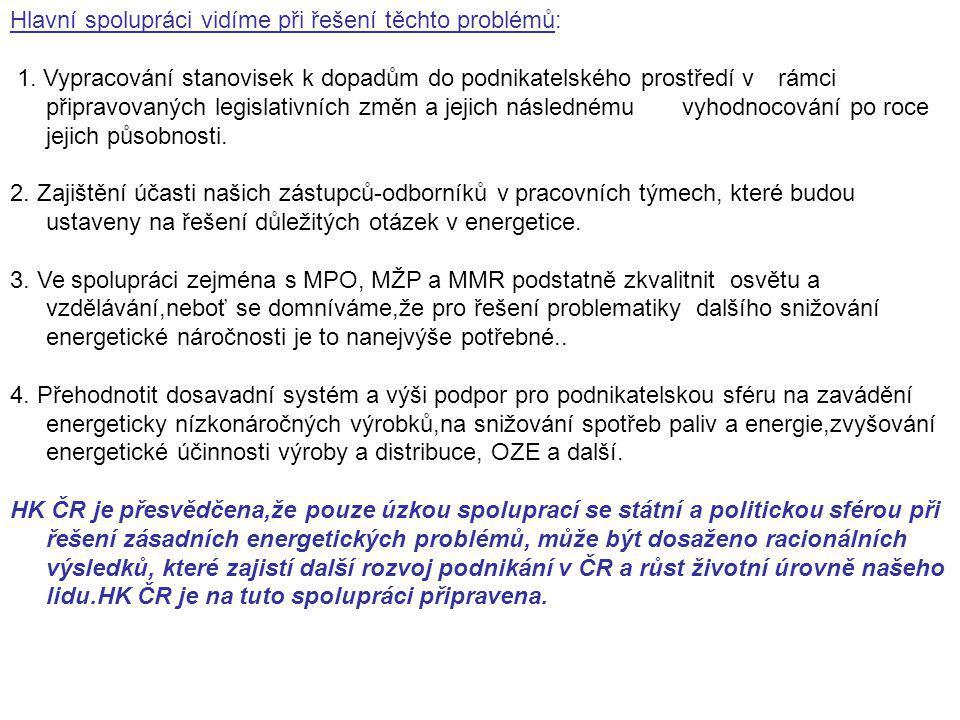 Hlavní spolupráci vidíme při řešení těchto problémů: