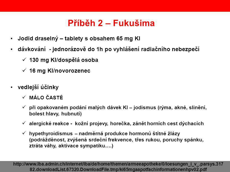 Příběh 2 – Fukušima Jodid draselný – tablety s obsahem 65 mg KI