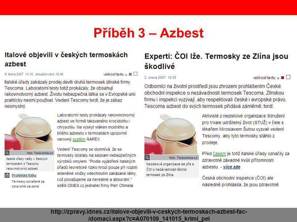 Příběh 3 – Azbest http://zpravy.idnes.cz/italove-objevili-v-ceskych-termoskach-azbest-fac-/domaci.aspx c=A070109_141015_krimi_pei.
