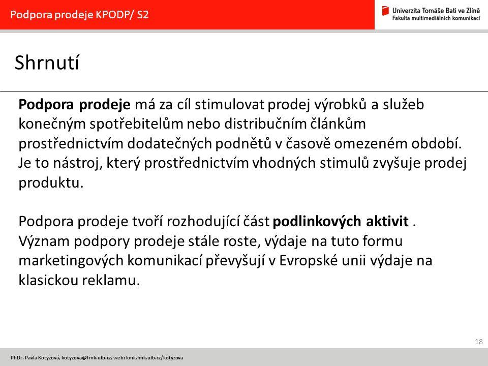 Podpora prodeje KPODP/ S2