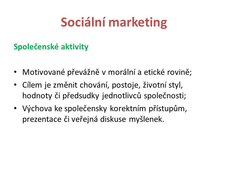 Sociální marketing Společenské aktivity