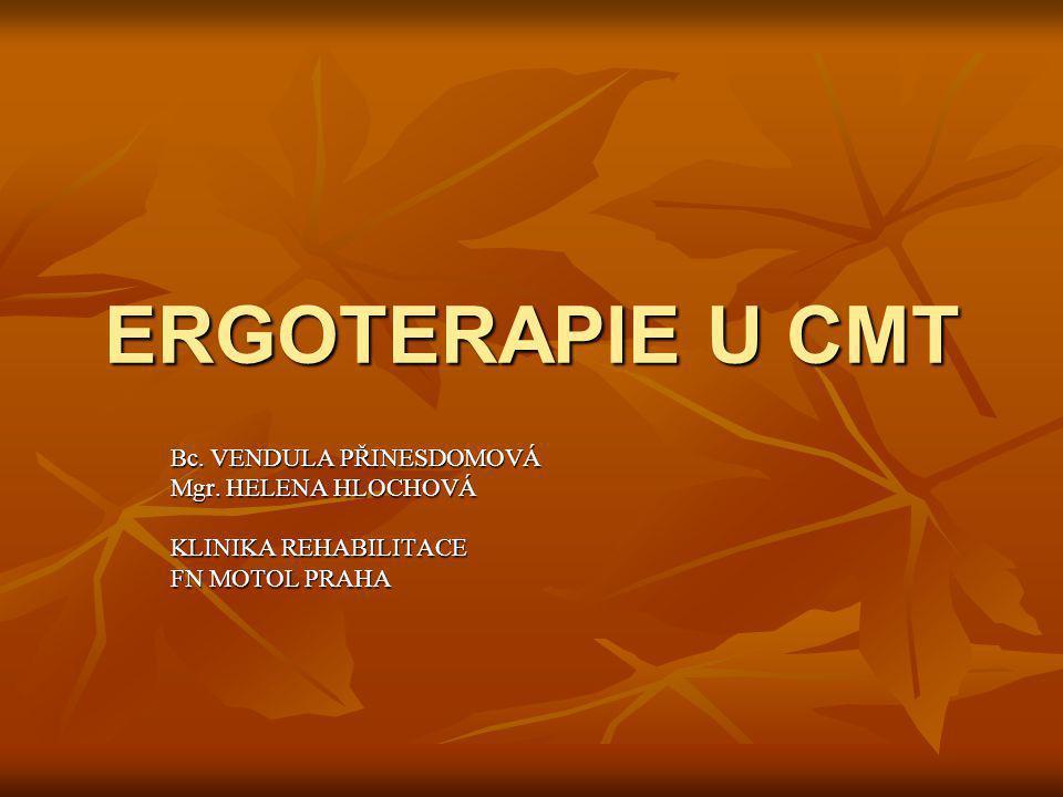ERGOTERAPIE U CMT Bc. VENDULA PŘINESDOMOVÁ Mgr. HELENA HLOCHOVÁ