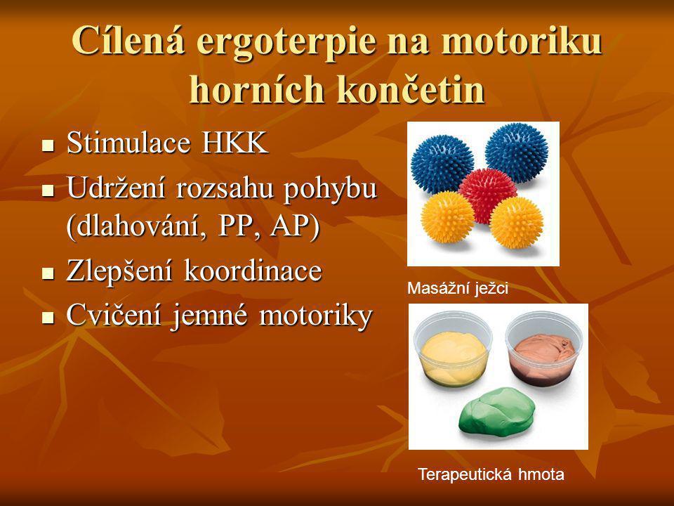 Cílená ergoterpie na motoriku horních končetin