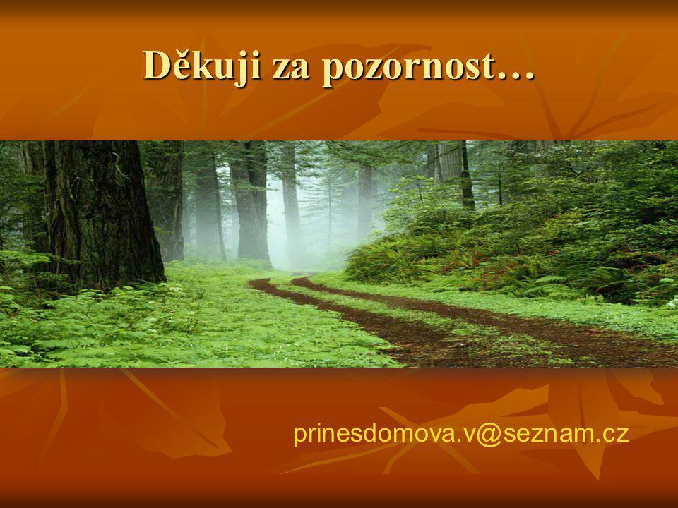 Děkuji za pozornost… prinesdomova.v@seznam.cz