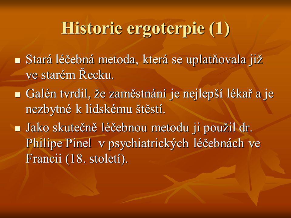 Historie ergoterpie (1)