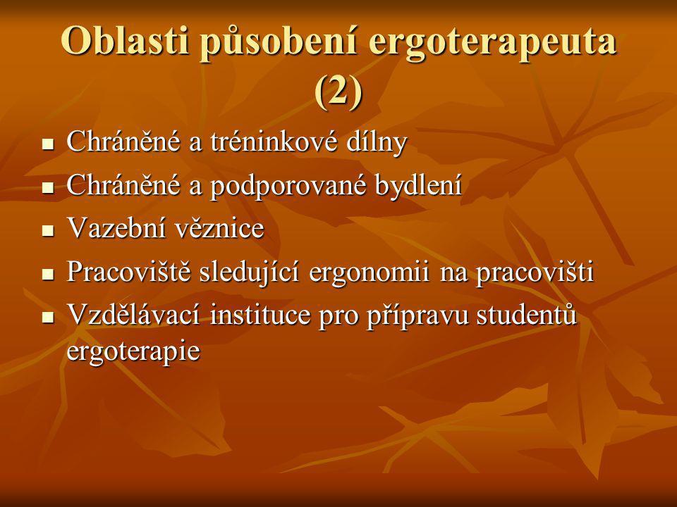 Oblasti působení ergoterapeuta (2)