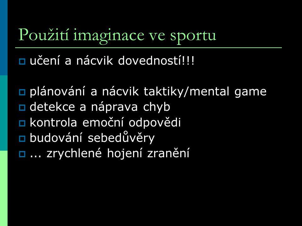 Použití imaginace ve sportu