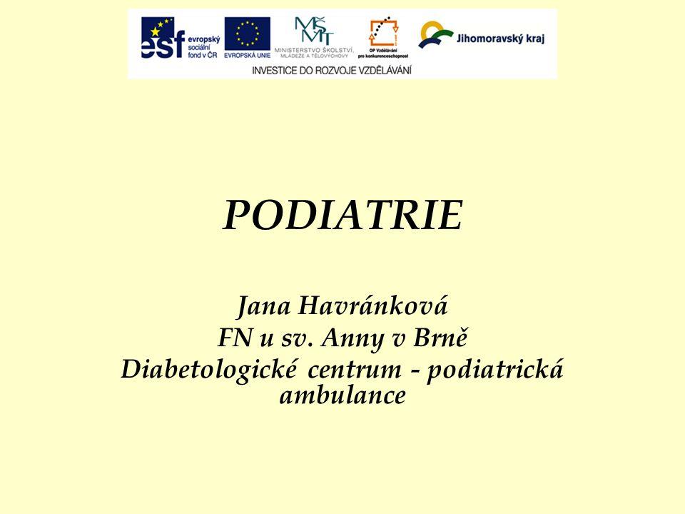 Diabetologické centrum - podiatrická ambulance