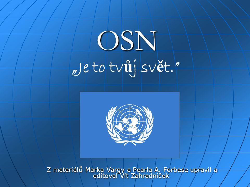 """OSN """"Je to tvůj svět. Z materiálů Marka Vargy a Pearla A."""